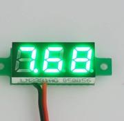 "Mini Voltmeter Groen 0.28"""