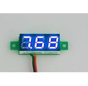 """Mini Voltage Meter Blue 0.28"""""""