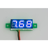 Mini Voltage Meter Blue 0.28""