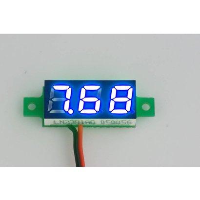 """Mini Voltage Meter Blue 2 Wire 0.28"""""""