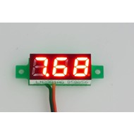 Mini Voltage Meter Red 0.28""