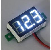 "Mini Voltage Meter White 0.36"""