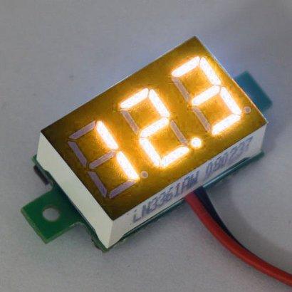 """Mini Volt Meter Yellow 3 to30 Volt DC 0.36"""""""