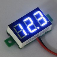 Mini Volt Meter Blue 0.36""