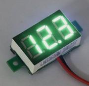 """Mini Volt Meter Green 0.36"""""""