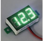 "Mini Voltmeter Groen 0.36"""