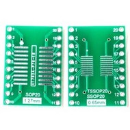 SMT Breakout PCB for SOIC-20 of TSSOP-20