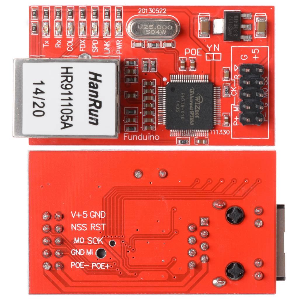 Arduino Ethernet with PoE - DEV-11361 - SparkFun Electronics