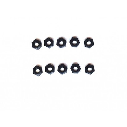 Nut for Spacer Nylon Black M3
