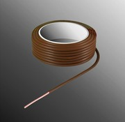 HELUKABEL Project Wire H05V-U 2.3 x 0.5mm², Solid Core, Flame Retardant - Brown