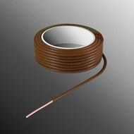 HELUKABEL Project Draad H05V-U 2,5 x 0,5mm², Massieve Kern, Brand Vertragend - Bruin