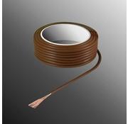 HELUKABEL Project Draad H05V-K 2,5 x 0,5mm², Multivezel Kern, Brand Vertragend - Bruin