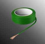 HELUKABEL Project Wire H05V-K 2.5 x 0.5mm², Stranded Core, Flame Retardant - Green
