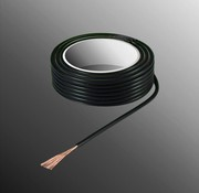 HELUKABEL Project Wire H05V-K 2.5 x 0.5mm², Stranded Core, Flame Retardant - Black