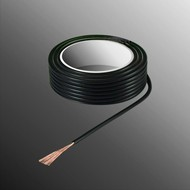 HELUKABEL Project Wire H05V-K 2.5 x 0.5mm², Stranded Core, Flame Retardant - Black