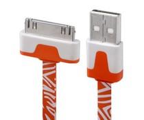 Zebra 30 pin naar USB kabel, 1 meter, rood/wit