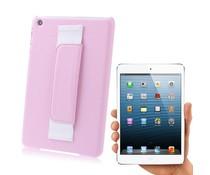 Roze kunstof back cover voor je Ipad Mini met handvat