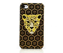 Luipaard Bling! telefoon hoesje voor Apple Iphone 4/4S
