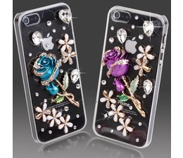 Cute & Blue bling hoesje voor je Apple Iphone 4/4S
