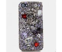 Stoere skulls bling telefoon hoesje voor Apple iPhone 5/5S