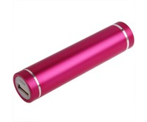 Universele roze power bank, 2600 mAh