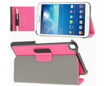 Roze denim tablet hoes voor Samsung Galaxy Tab 3 (8 inch)