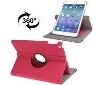 Roze draaibare denim leren hoes voor Apple iPad Air