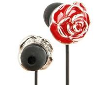 Schattige in-ear oordopjes in de vorm van een rode bloem