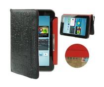 Leren Samsung Galaxy Tab 2 (7 inch) hoes, zwart/rood