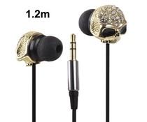 Stoere bling in-ear skull oordopjes