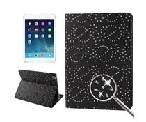 Glinsterende bling bling hoes voor Apple iPad Air, zwart