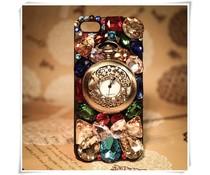 Watch the clock! Bling telefoon hoesje voor Apple iPhone 5C