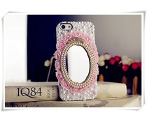 Mirror & roses! Bling telefoon hoesje voor je Apple iPhone 5/5S