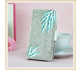 Diamond Crystal Bling! Luxe wallet case hoesje voor Samsung Galaxy S4