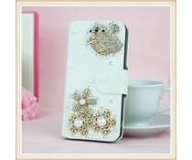 Juicy Bling Crown! Wallet case voor Apple iPhone 5/5S