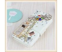 I love Paris-Fantasy bling! Wallet case voor Apple iPhone 4/4S