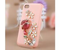 Girlie rose Bling! telefoonhoesje HTC One (M7)