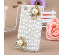 Bling! Bloemetjes telefoonhoesje Samsung Galaxy S3 mini