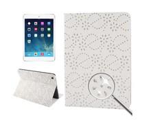Glinsterende bling bling hoes voor Apple iPad Air, wit