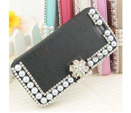 Pareltjes design! Bling wallet case voor je Samsung Galaxy Note 3