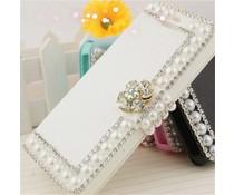 Pareltjes design! Bling wallet case voor Samsung Galaxy S4 mini