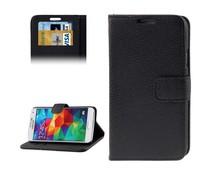 PU leren Samsung Galaxy S5 bookcase hoesje met ruimte voor pasjes, diverse kleuren