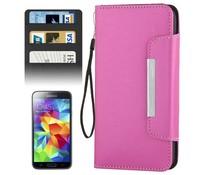 Walletcase voor Samsung Galaxy S5 met ruimte voor pasjes, diverse kleuren
