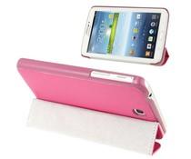 Roze hoes met standfunctie voor je Galaxy Tab 3 (7 inch)