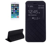 Kunstleer Apple Iphone 6 bookcase hoesje met kijkvenster (4.7 inch)