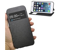 Leren Apple Iphone 6 bookcase hoesje met Caller ID (4.7 inch)