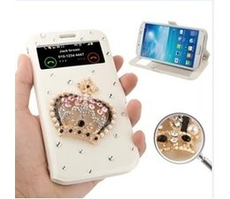Apple iPhone 4/4S bling kroontje wit telefoonhoesje met strass steentjes