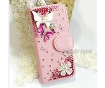 Samsung Galaxy S4 mini Vlinder walletcase in wit