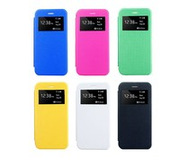 Kunstleren Apple Iphone 6 Plus bookcase hoesje met kijkvenster, diverse kleuren