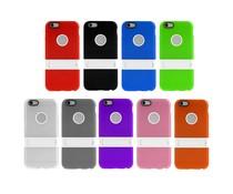 Plastic TPU hoesje met standaardje voor Apple Iphone 6 Plus, diverse kleuren